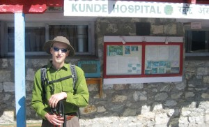 In May 2014, Aaron Olson visited Kunde Hospital in Nepal after finishing an elective medical school rotation in Shenyang, China. Sir Edmund Hillary founded the hospital in 1966. Olson stopped at the hospital when he trekked to view Mt. Everest.